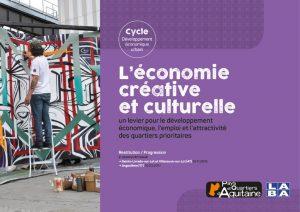 L'économie créative et culturelle comme levier de développement économique, d'attractivité et d'emplois pour  les quartiers prioritaires