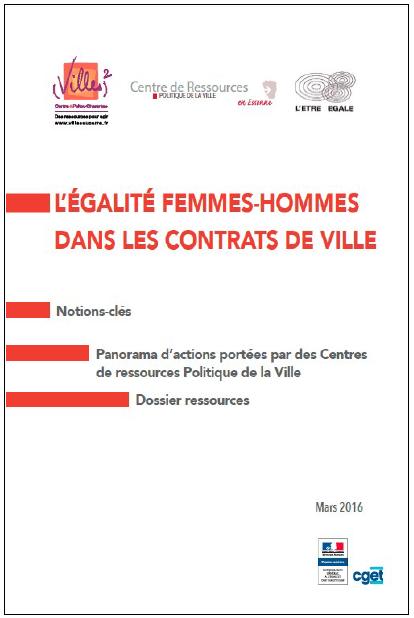 L'égalité femmes-hommes dans les contrats de ville