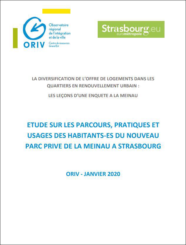Etude sur les parcours, pratiques et usages des habitants-es du nouveau parc privé de la Meinau à Strasbourg