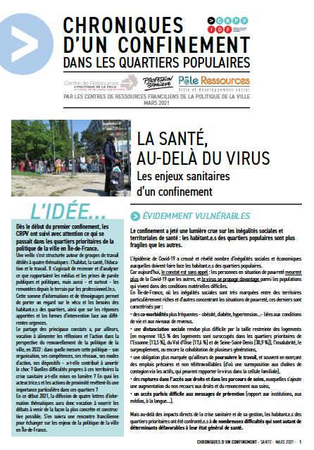 [Chronique d'un confinement dans les quartiers populaires] La santé, au-delà du virus : les enjeux sanitaires d'un confinement