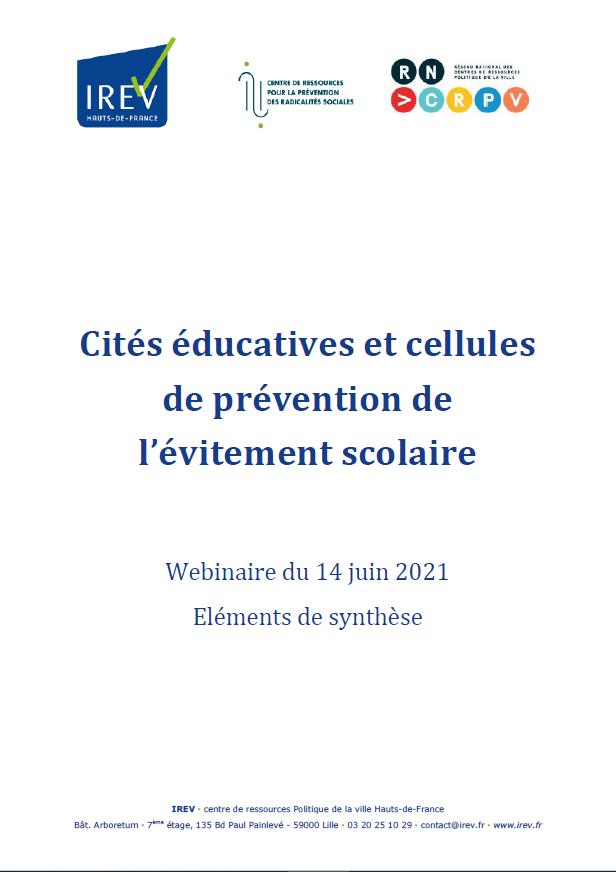 Cités éducatives et cellules de prévention de l'évitement scolaire